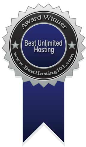 Winner of the Best Unlimited Hosting from besthosting101.com