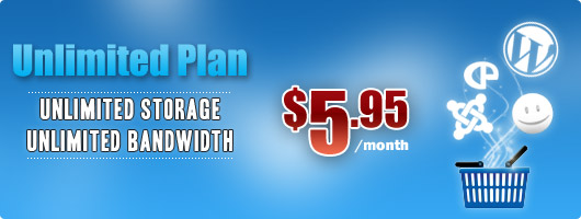 BuyHTTP Unlimited Plan. Unlimited storage, unlimited bandwidth - $5.95/month