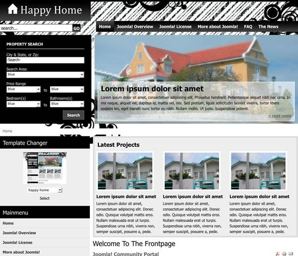 10 free joomla real estate templates designfloat blog. Black Bedroom Furniture Sets. Home Design Ideas